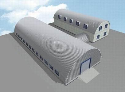 бескаркасные арочные конструкции
