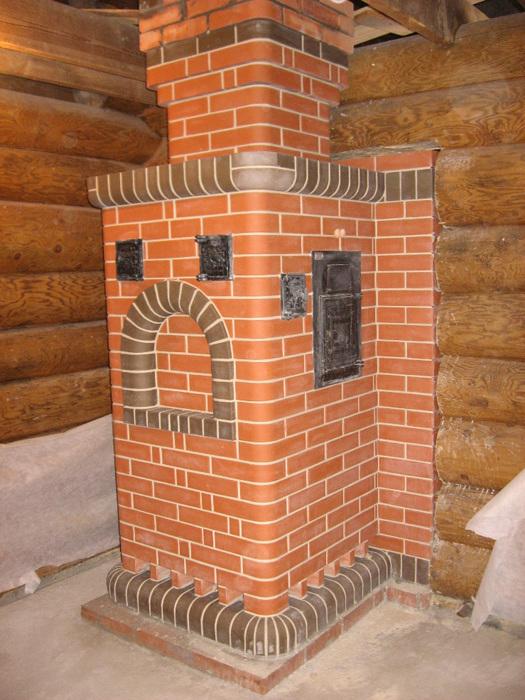 строительство банной печи из кирпича